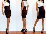Классическая юбка карандаш с завышенной талией