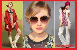 мода в стиле 60-х на фото