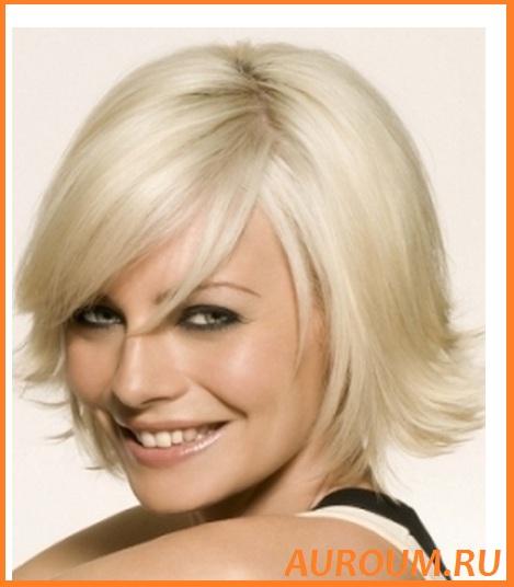 стрижки средней длины волос фото