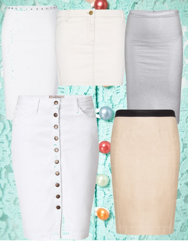 белая юбка карандаш